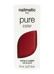 Nailmatic Pure Color Plant-Based Glossy Nail Polish, 8ml, Marilou Brick Red
