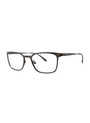 Badgley Mischka Holden Full Rim Rectangle Dark Brown Frame for Men, 51/19/140