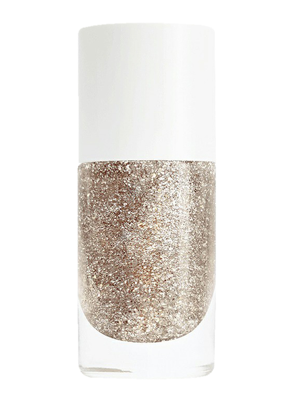 Nailmatic Pure Color Plant-Based Nail Polish, 8ml, Lucia Gold Glitter