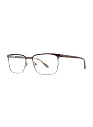 Badgley Mischka Auburn Full Rim Rectangle Brown Frame for Men, 53/17/145