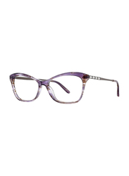 Badgley Mischka Arianne Full Rim Tea Cup Lavender Frame for Women, 53/15/140