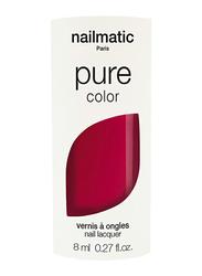 Nailmatic Pure Color Plant-Based Glossy Nail Polish, 8ml, Paloma Intense Raspberry, Red
