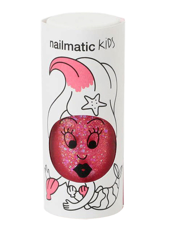 Nailmatic Kids Water Based Nail Polish, 8ml, Sissi Pink Glitter