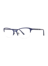 XOXO Viejo Half-Rim Tea Cup Blue Eyeglass Frame for Women, 53/17/135