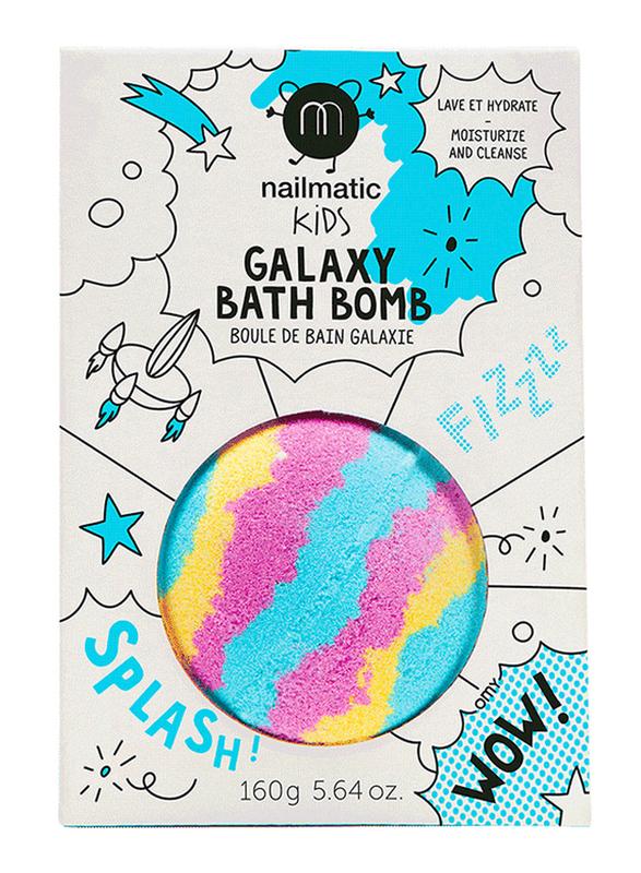 Nailmatic Kids 160g Galaxy Bath Ball, Blue/Yellow/Pink