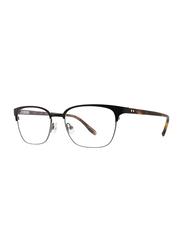 Badgley Mischka Bendix Full Rim Rectangle Black Frame for Men, 53/18/140