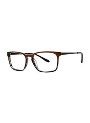 Badgley Mischka Crawford Full Rim Round Cedar Frame for Men, 51/17/140