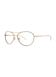 Badgley Mischka Chandell Full Rim Aviator Gold Frame for Women, 57/15/140