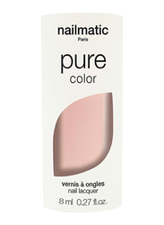 Nailmatic Pure Color Plant-Based Glossy Nail Polish, 8ml, Sasha Light Pink Beige, Pink