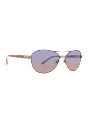 Badgley Mischka Elena Full Rim Aviator Rose Gold Sunglasses for Women, Purple Lens, 58/15/140