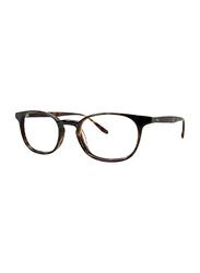 Badgley Mischka Nash Full Rim Oval Black Tortoise Frame for Men, 49/20/145
