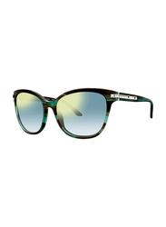 Badgley Mischka Monique Full Rim Butterfly Emerald Sunglasses for Women, Green Lens, 56/17/130