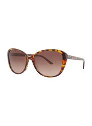 Badgley Mischka Petra Full Rim Cat Eye Tortoise Sunglasses for Women, Brown Lens, 56/16/135