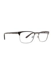 Badgley Mischka Martin Full Rim Rectangle Black Frame for Men, 52/19/145
