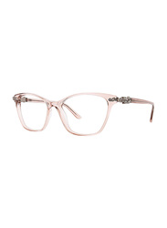 Badgley Mischka Evelyne Full Rim Tea Cup Blush Frame for Women, 53/16/135