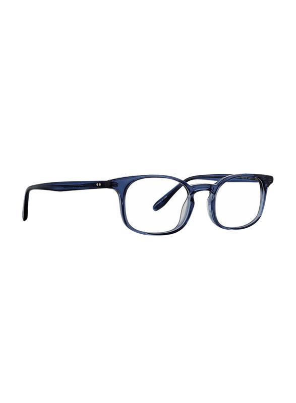 Badgley Mischka Graham Full Rim Rectangle Navy Blue Frame for Men, 49/20/145