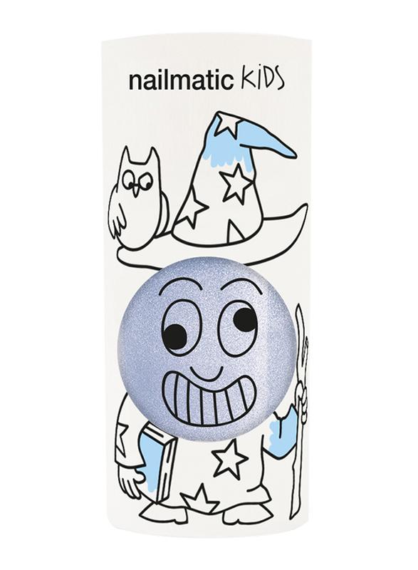 Nailmatic Kids Water Based Nail Polish, 8ml, Merlin Pearly Blue Shimmer