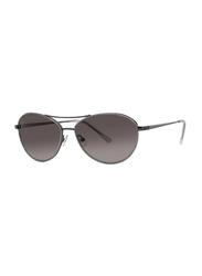 Badgley Mischka Caroline Full Rim Aviator Mint Sunglasses for Women, Dark Brown Lens, 57/15/140