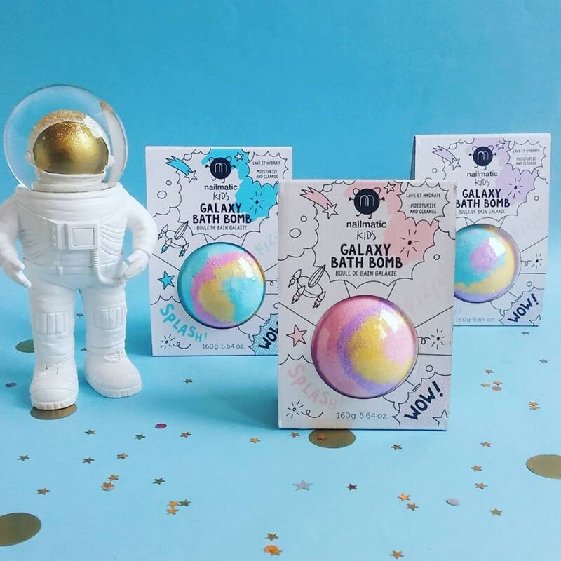 Nailmatic Kids 160g Cosmic Bath Ball, Pink