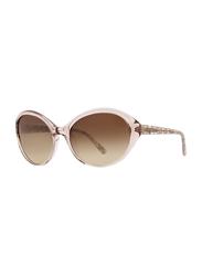 Badgley Mischka Nora Full Rim Oval Blush Sunglasses for Women, Brown Lens, 59/18/130