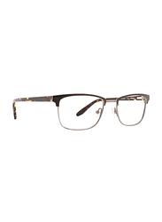 Badgley Mischka Martin Full Rim Rectangle Brown Frame for Men, 52/19/145