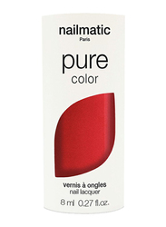 Nailmatic Pure Color Plant-Based Glossy Nail Polish, 8ml, Amour Red Shimmer, Red