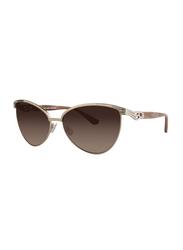 Badgley Mischka Doriane Full Rim Cat Eye Gold Sunglasses for Women, Blush Lens, 56/14/135