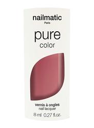 Nailmatic Pure Color Plant-Based Glossy Nail Polish, 8ml, Ninon Rosewood, Red