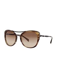 Badgley Mischka Adrienne Full Rim Butterfly Brown Sunglasses for Women, Toffee Lens, 55/17/135