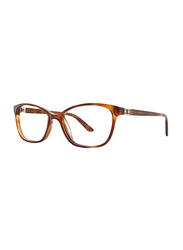 Badgley Mischka Annetta Full Rim Tea Cup Tortoise Frame for Women, 53/16/135