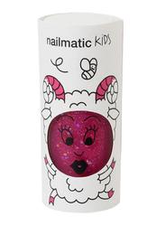 Nailmatic Kids Water Based Nail Polish, 8ml, Sheepy Raspberry Glitter, Pink