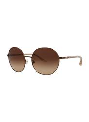 Badgley Mischka Noemie Full Rim Round Rose Gold Sunglasses for Women, Brown Lens, 55/16/130