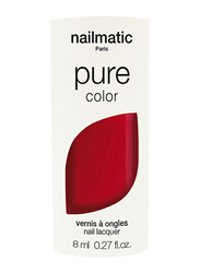 Nailmatic Pure Color Plant-Based Glossy Nail Polish, 8ml, Dita Pure Red