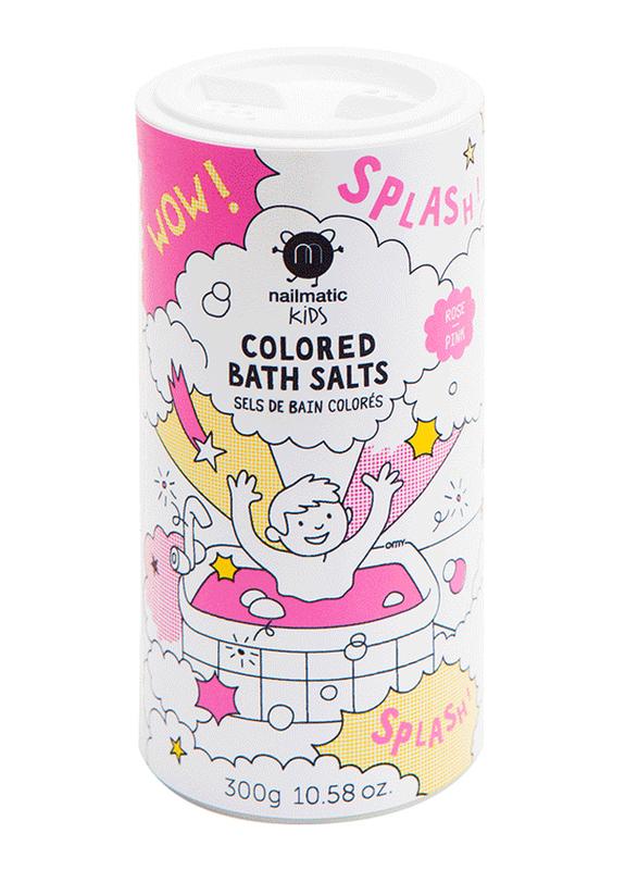 Nailmatic Kids 300g Colored Bath Salts, Pink
