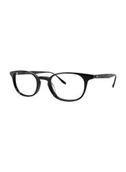 Badgley Mischka Nash Full Rim Oval Black Blue Frame for Men, 49/20/145