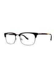 Badgley Mischka Jensen Full Rim Rectangle Black Frame for Men, 55/20/145