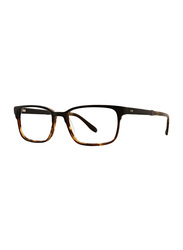 Badgley Mischka Fleetwood Full Rim Rectangle Black Frame for Men, 54/17/145