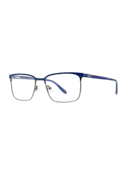 Badgley Mischka Auburn Full Rim Rectangle Navy Blue Frame for Men, 53/17/145