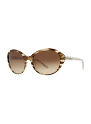 Badgley Mischka Nora Full Rim Oval Toffee Sunglasses for Women, Brown Lens, 59/18/130