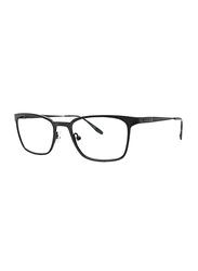 Badgley Mischka Holden Full Rim Rectangle Black Frame for Men, 51/19/140