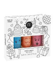 Nailmatic Kids 3-Piece Water Based Nail Polish Set, 3 x 8 ml, Freezy or Gaston/Dori/Cookie, Multicolor