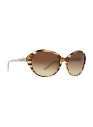 Badgley Mischka Nora Full Rim Oval Toffee Sunglasses for Women, Brown Lens, 59/18/130