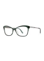 Badgley Mischka Arianne Full Rim Tea Cup Emerald Frame for Women, 53/15/140