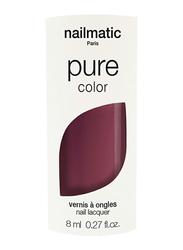 Nailmatic Pure Color Plant-Based Glossy Nail Polish, 8ml, Misha Plum Brown