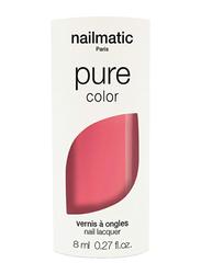 Nailmatic Pure Color Plant-Based Glossy Nail Polish, 8ml, Eva Pastel Coral, Pink