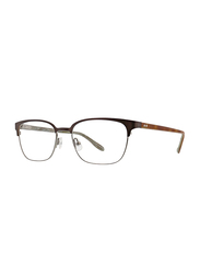 Badgley Mischka Bendix Full Rim Rectangle Brown Frame for Men, 53/18/140