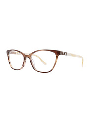 Badgley Mischka Florine Full Rim Tea Cup Toffee Frame for Women, 53/16/140