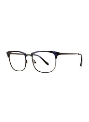 Badgley Mischka Derham Full Rim Square Blue Frame for Men, 52/18/145
