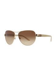 Badgley Mischka Philise Full Rim Aviator Gold Sunglasses for Women, Brown Lens, 61/15/130
