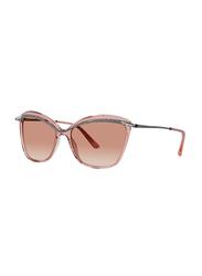 Badgley Mischka Jacquelyn Full Rim Cat Eye Silver/Blush Sunglasses for Women, Blush Lens, 56/16/140